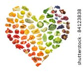 Rainbow Heart Of Fruits And...