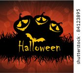 halloween party poster and... | Shutterstock .eps vector #84123895