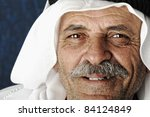 old happy man  arabic elderly... | Shutterstock . vector #84124849