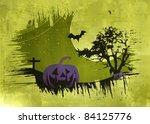 halloween dark scenery with ...   Shutterstock .eps vector #84125776