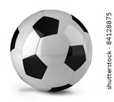 soccer ball over white... | Shutterstock . vector #84128875
