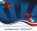 Background with USA flag theme. - stock photo