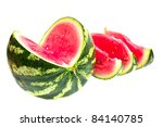 watermelon isolated on white... | Shutterstock . vector #84140785