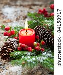 Christmas Decoration  Fir Spri...
