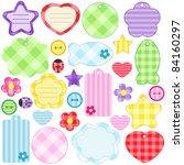 set of scrapbook design... | Shutterstock .eps vector #84160297