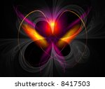 high resolution fractal heart... | Shutterstock . vector #8417503
