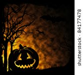 halloween pumpkin on dark... | Shutterstock . vector #84177478