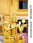 beautiful golden brahma statue