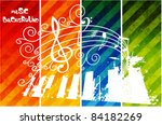 Musical Theme Background With...