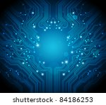 circuit board background raster ... | Shutterstock . vector #84186253