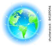 raster version. globe with... | Shutterstock . vector #84189046