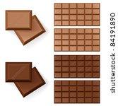 Raster version. Set of Chocolate bars. Illustration on white background - stock photo