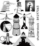 lighthouse collection | Shutterstock .eps vector #84197065