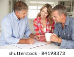 mid age couple with financial... | Shutterstock . vector #84198373