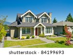 luxury house at sunny day in... | Shutterstock . vector #84199693