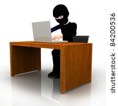 3d Online Thief Working On A...