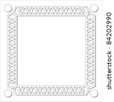 border  frame design. vector. | Shutterstock .eps vector #84202990