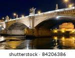 bridge crossing the river tiber ...   Shutterstock . vector #84206386