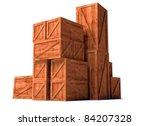Постер, плакат: wooden cargo export import