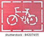 White Bicycle Sign In Frame On...
