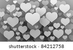 many  hearts background 3d ( high resolution ) - stock photo