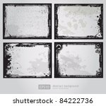 set of four grunge frames vector
