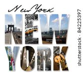 a new york city themed montage... | Shutterstock . vector #84225397