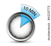timer of 10 minutes   vector.... | Shutterstock .eps vector #84225772
