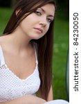 closeup beautiful woman face...   Shutterstock . vector #84230050