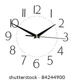 clock face isolated on white... | Shutterstock . vector #84244900