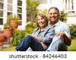 senior couple relaxing in garden | Shutterstock . vector #84246403