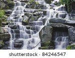 Waterfall Cascades Flowing Ove...
