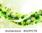 summer background with green... | Shutterstock .eps vector #84249178