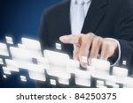 businessman pressing touch... | Shutterstock . vector #84250375