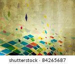 abstract explore square mosaic... | Shutterstock .eps vector #84265687