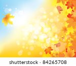 autumn background with leaves... | Shutterstock .eps vector #84265708