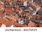 Rooftops Of Medieval Town...