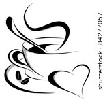 coffee love  also available... | Shutterstock .eps vector #84277057