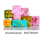 beautiful bright gifts isolated ... | Shutterstock . vector #84278569