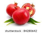 pomegranate fruits with green... | Shutterstock . vector #84280642