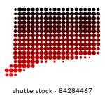 map of connecticut | Shutterstock . vector #84284467