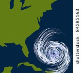an image of a hurricane off the ... | Shutterstock .eps vector #84285163