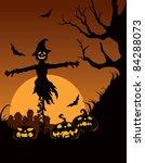 scarecrow in halloween night | Shutterstock .eps vector #84288073