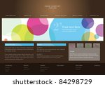 web site design template | Shutterstock .eps vector #84298729
