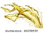 engine oil splashing isolated... | Shutterstock . vector #84298939