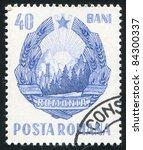 romania   circa 1953  stamp...   Shutterstock . vector #84300337
