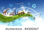 nature  ecology and animals... | Shutterstock . vector #84300367