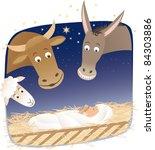 nativity | Shutterstock .eps vector #84303886