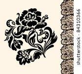 flower and border  design... | Shutterstock .eps vector #84310366