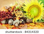 Autumn Decorations And Flowers...